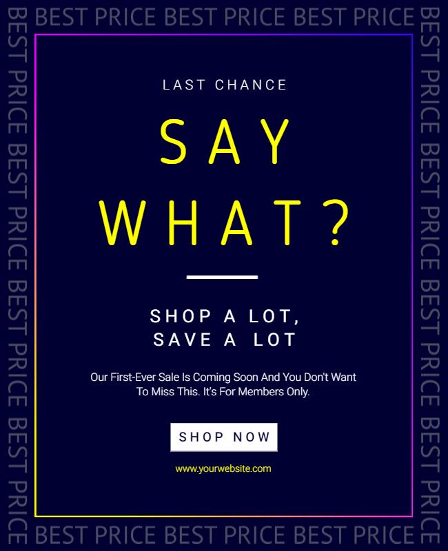 Sales flyer design idea