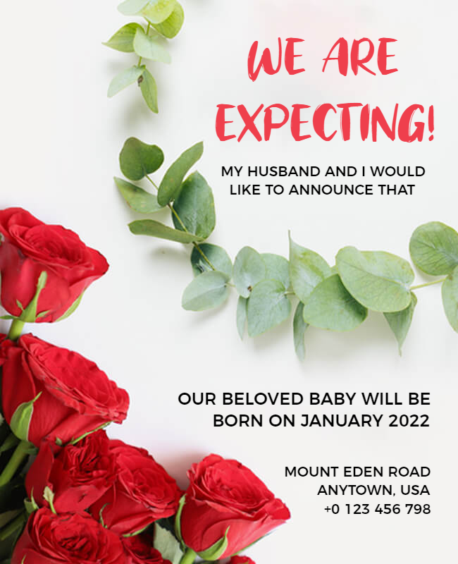 Pregnancy announcement poster design ideas