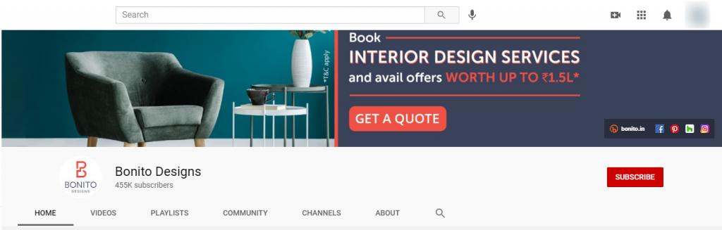 Bonito designs YouTube banner