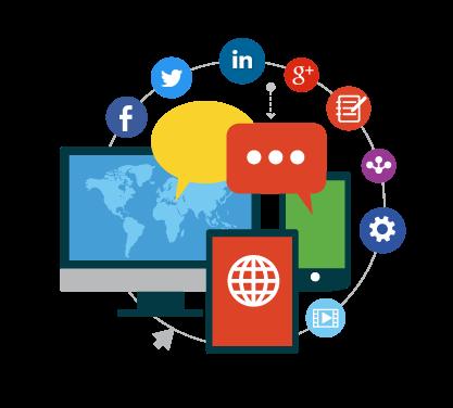 Promote in various social media image