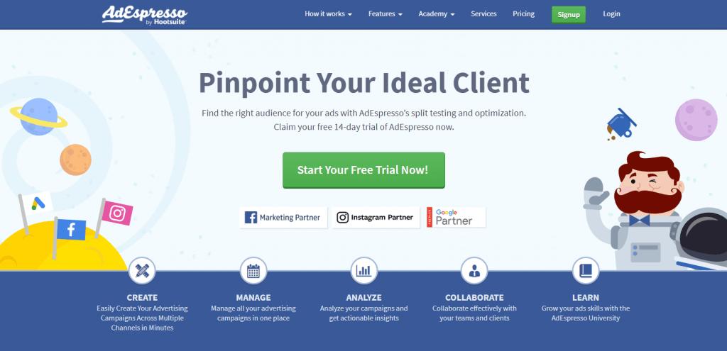 AdEspresso facebook marketing tool