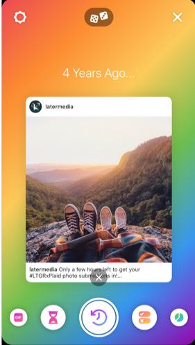 Back to back story on Instagram