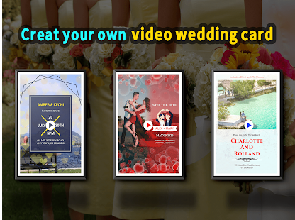 Wedding Card Design & Photo Video Maker With Music app image