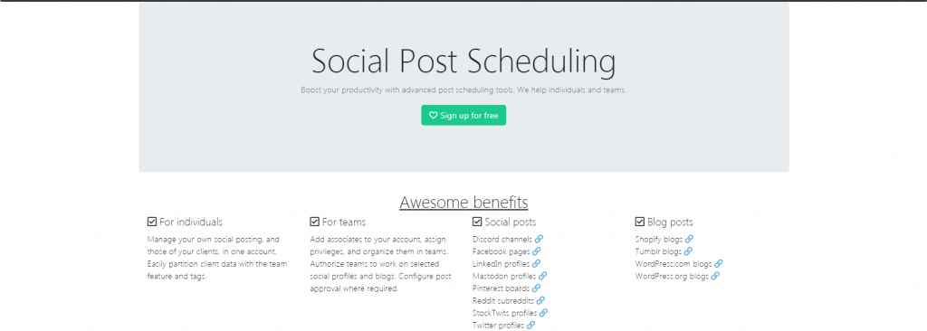 SocialOomph facebook post scheduling tool
