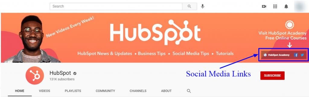 Hubspot youtube banner