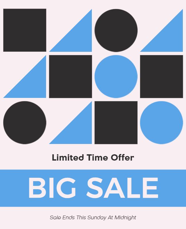 Minimalist poster design example
