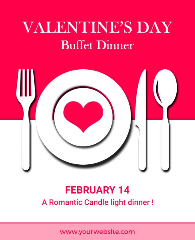 valentine day flyer design idea