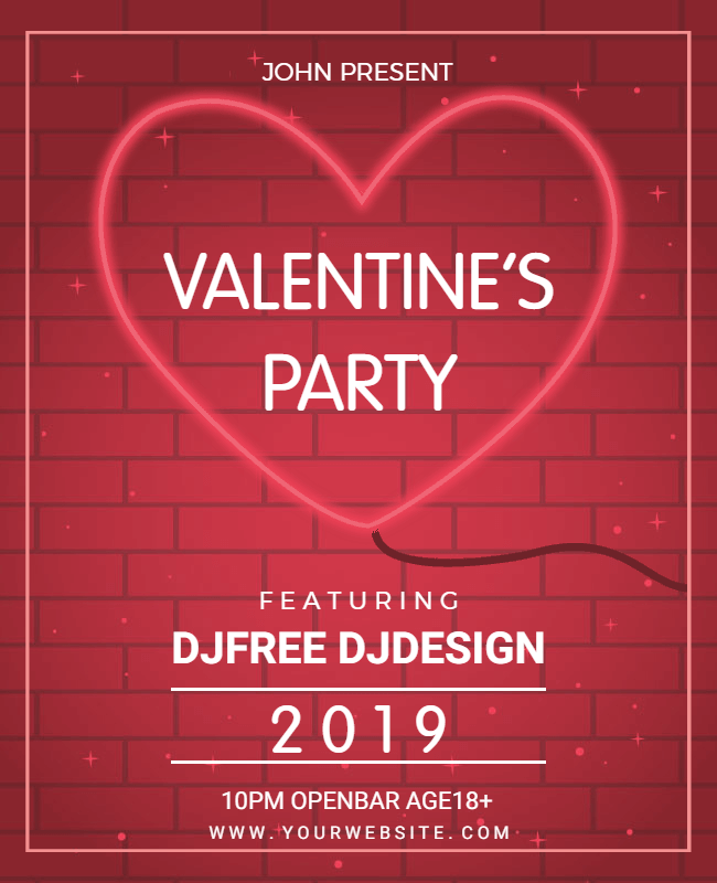 valentine party flyer design idea