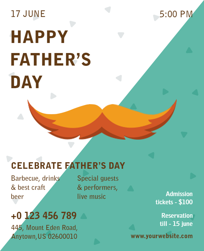 father's day flyer design idea