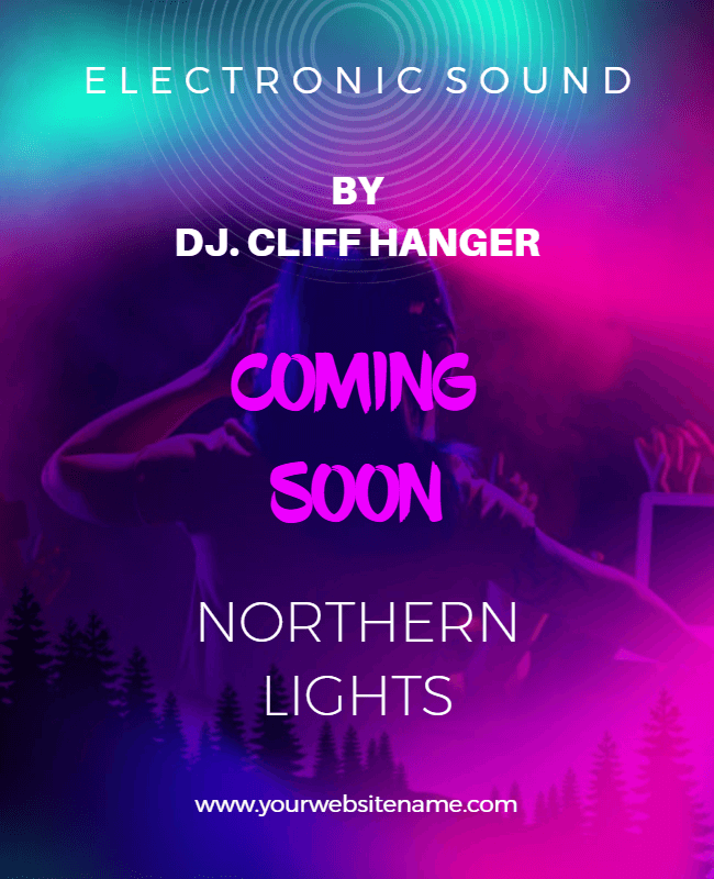 neon flyer design idea