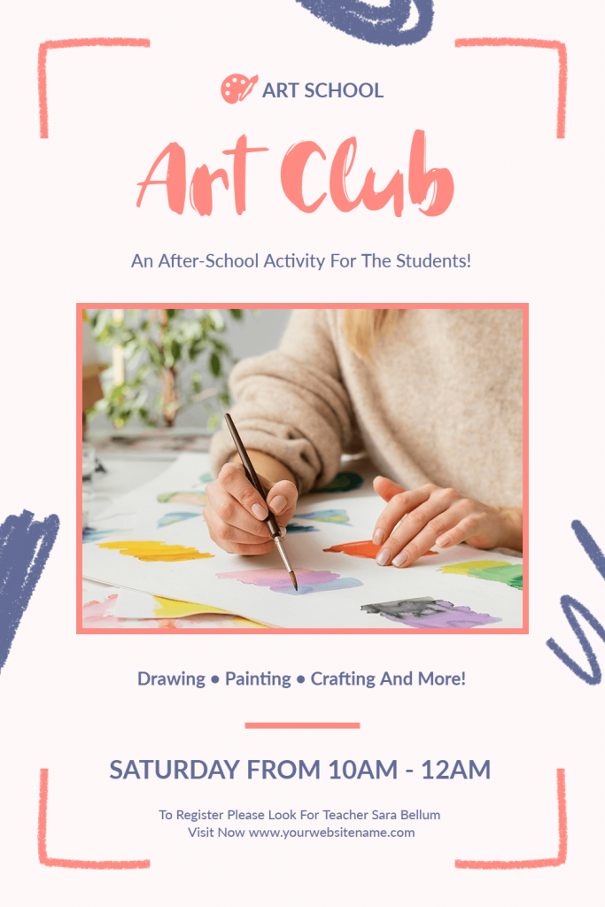 art club flyer design idea