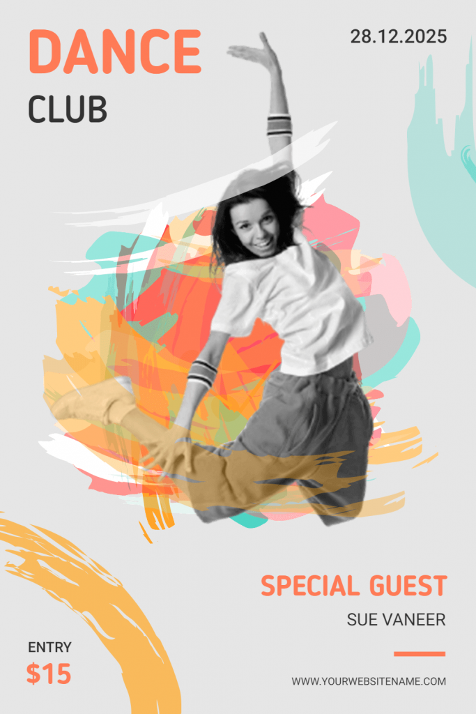 dance club flyer design idea