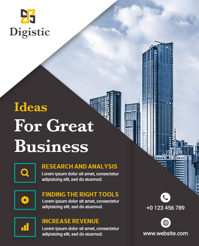 business flyer design illustration