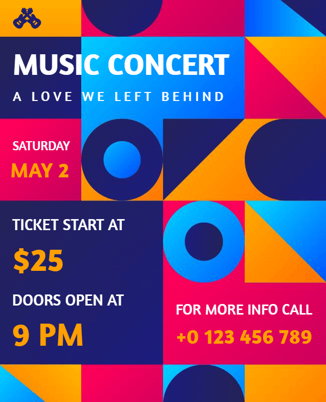 music concert flyer design idea