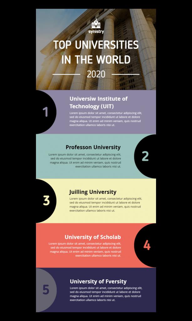 list infographic idea