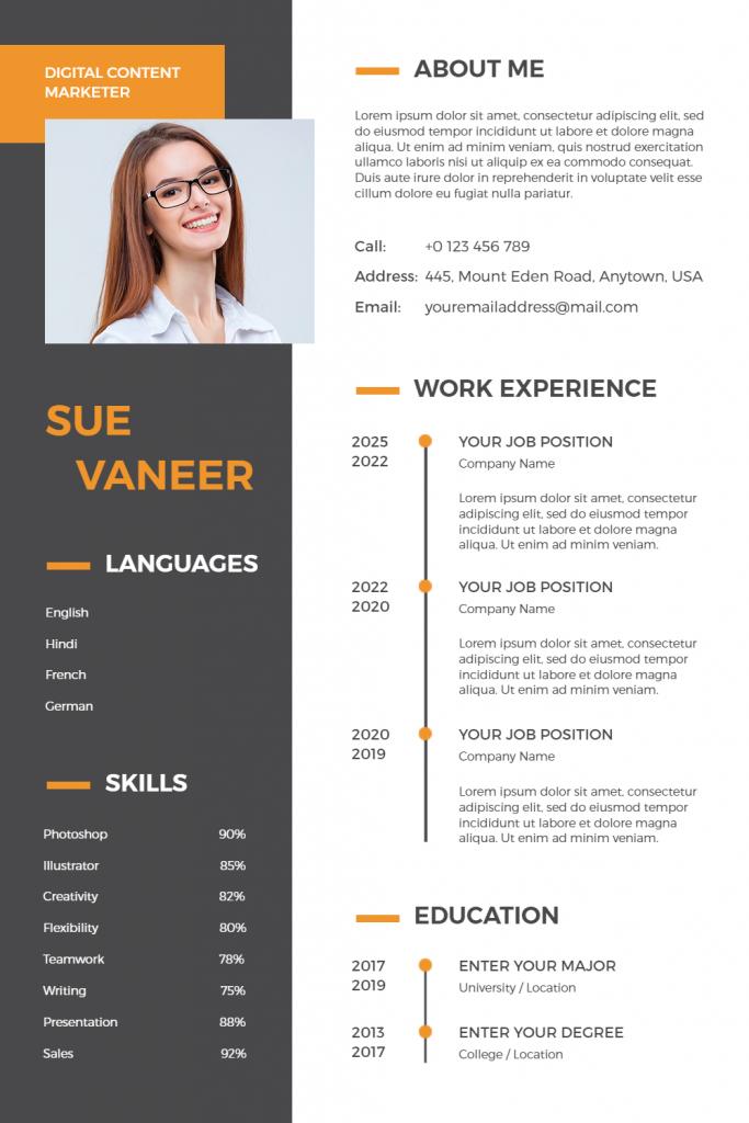 resume infographic idea