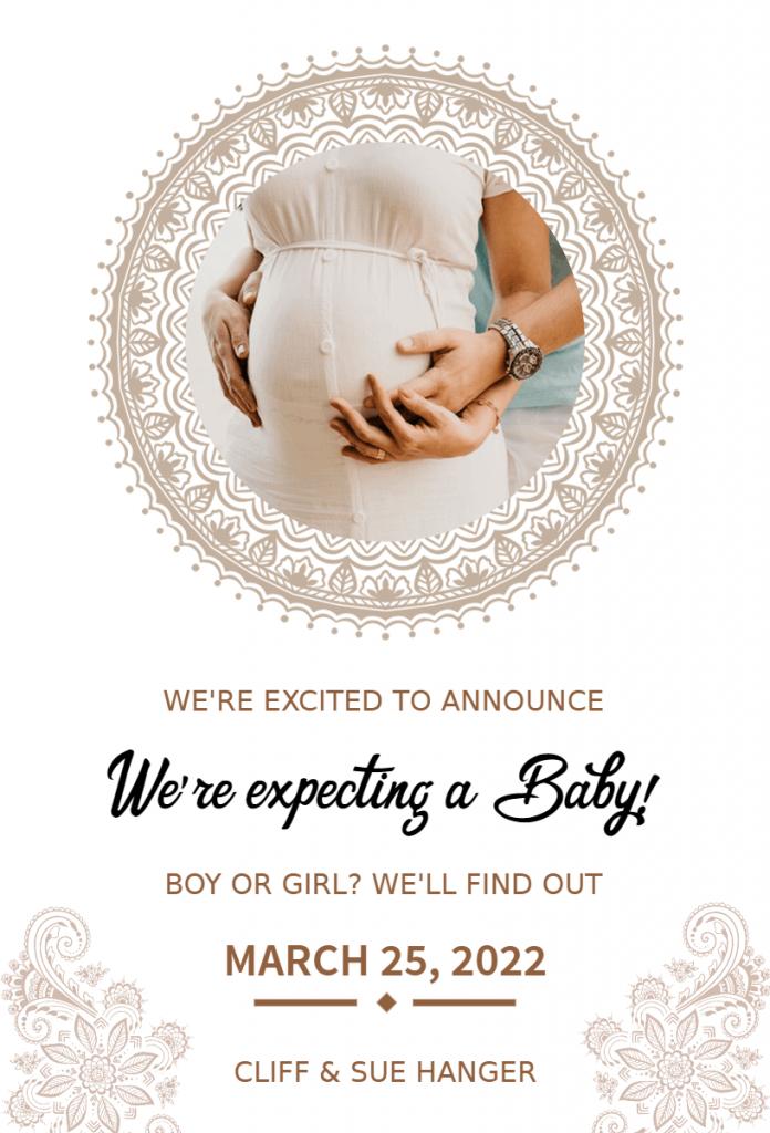 pregnancy announcement template idea