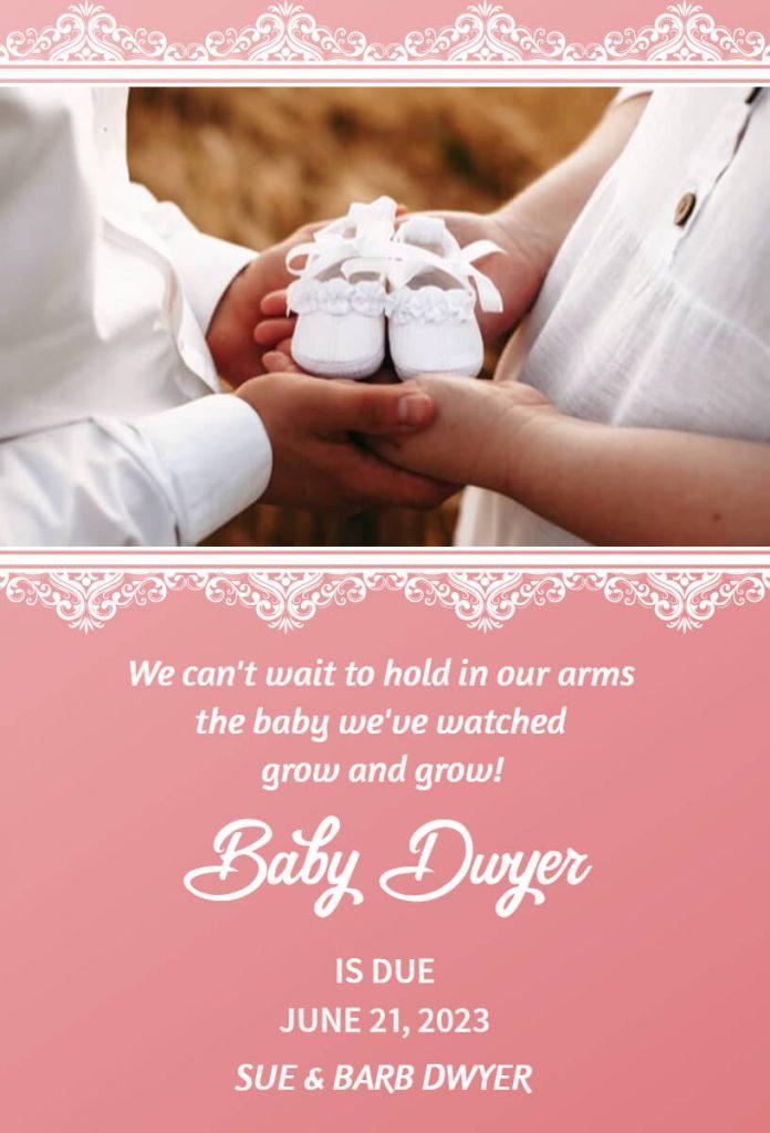 pregnancy announcement template design
