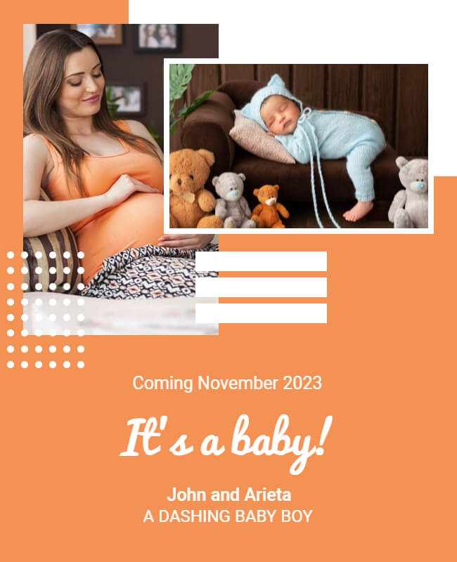 pregnancy announcement template example