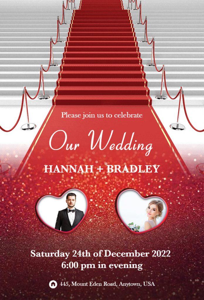 wedding announcement template idea