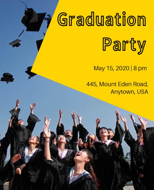 graduation Announcement Template  example