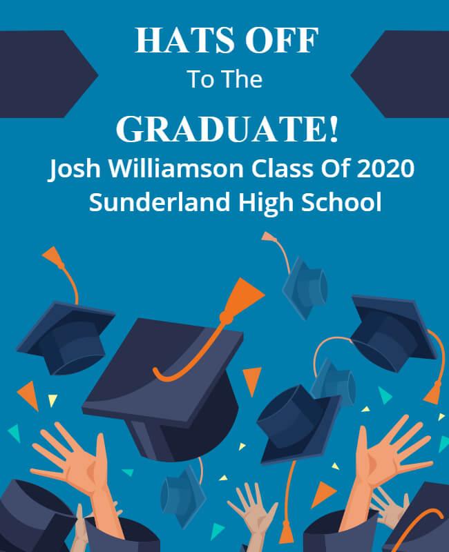 graduation Announcement Template illustrative