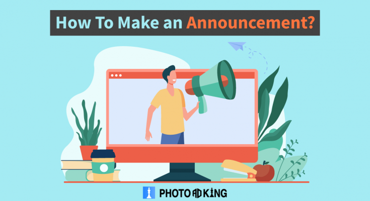 How to make an announcement