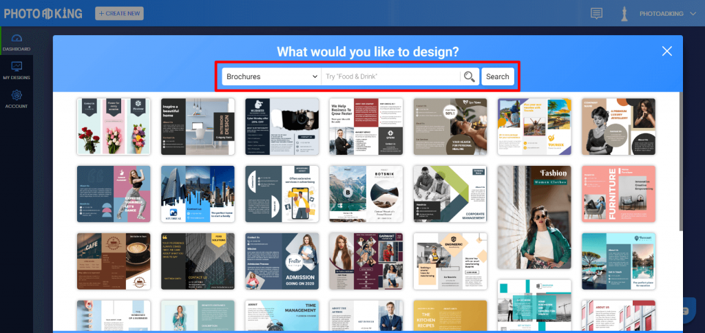 PhotoADKing search template
