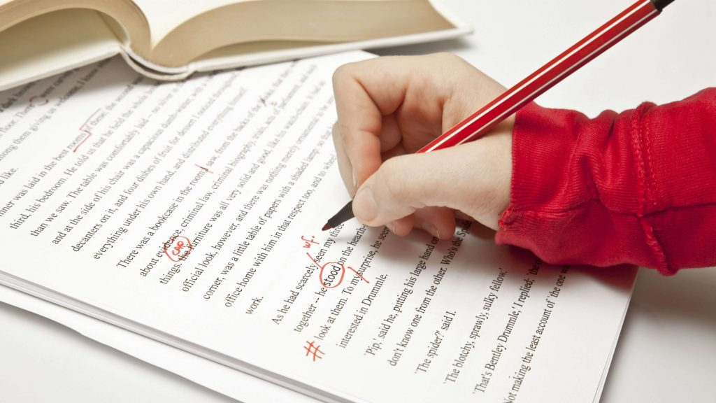 image of proofreading