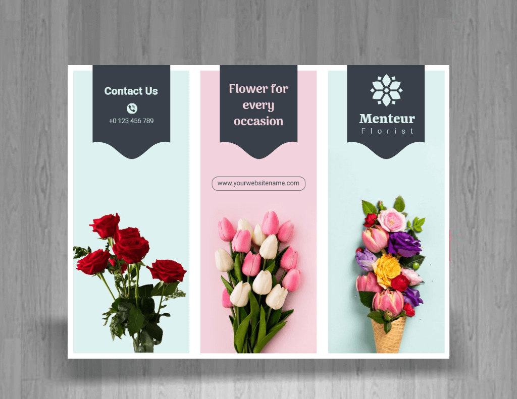 florist pamphlet design example