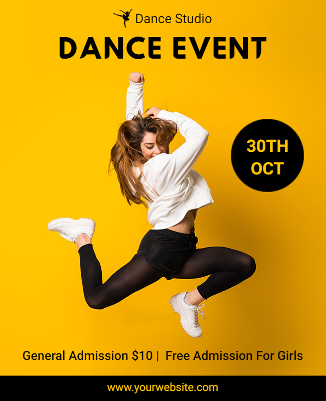 dance event template example