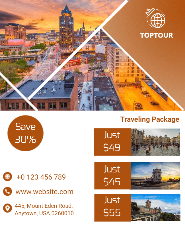 travel template design