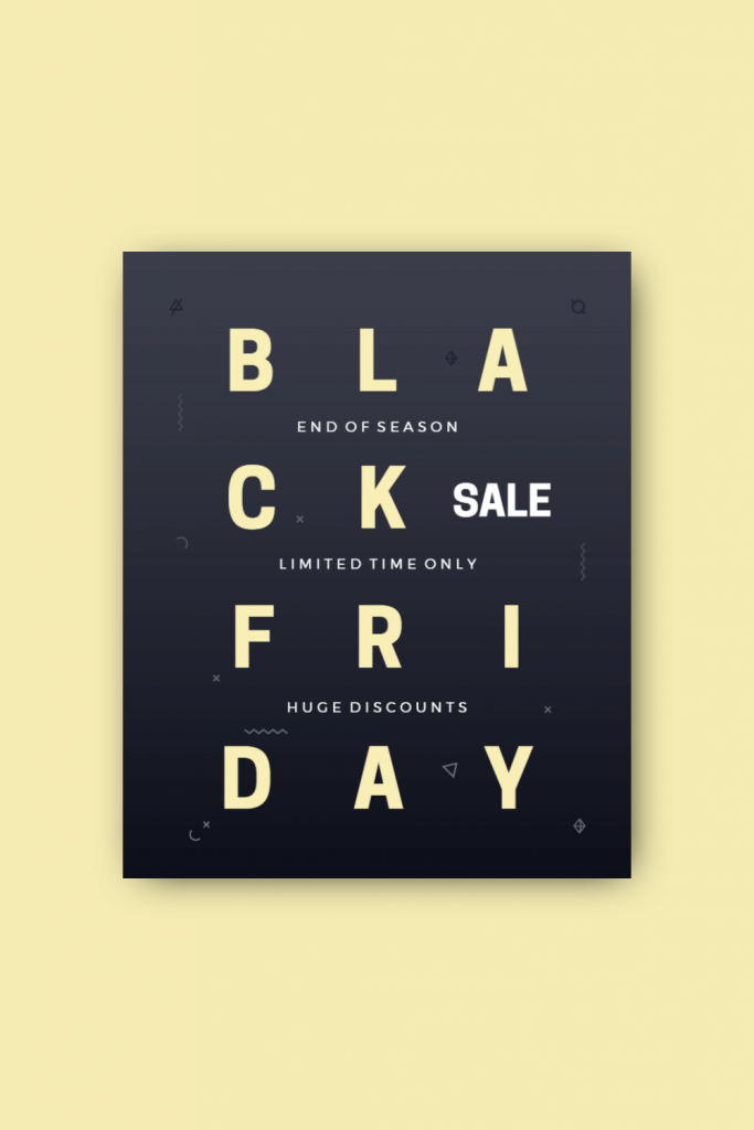 typeface graphic design sample
