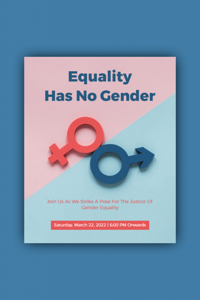 gender equality template idea