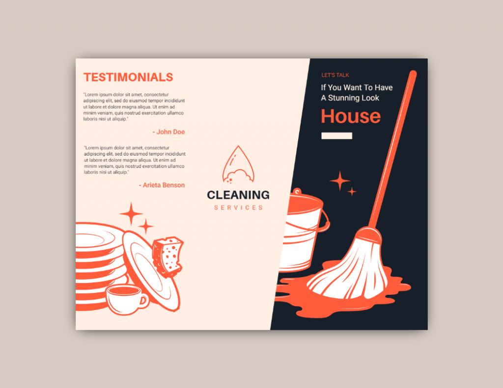 testimonial ad design idea