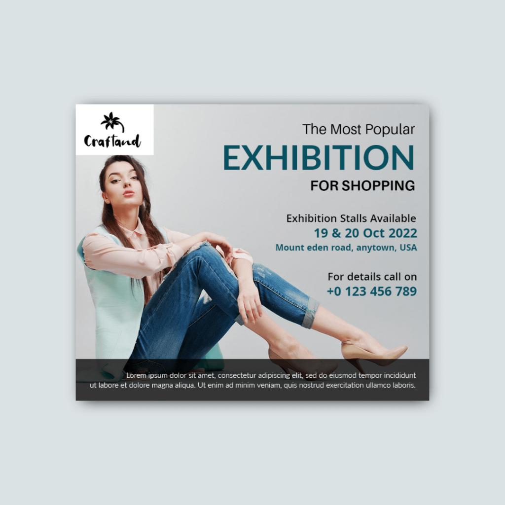 exhibition for shopping ad design idea