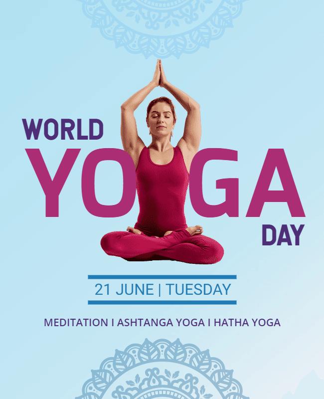 world yoga day design template