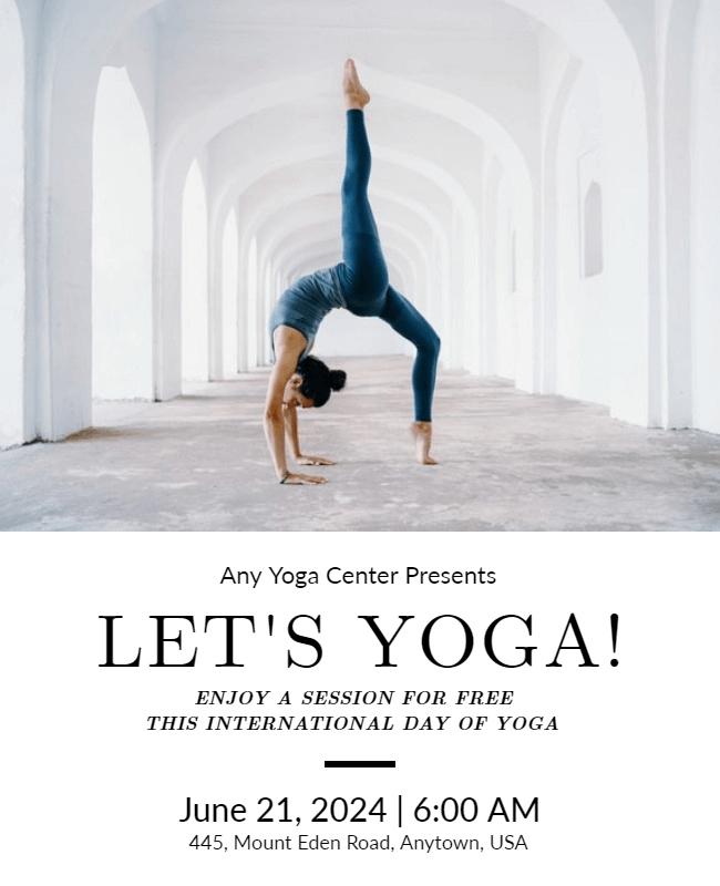 international yoga day template example