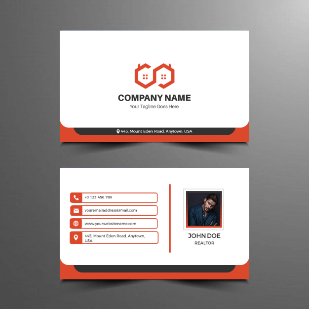 real estate business card idea