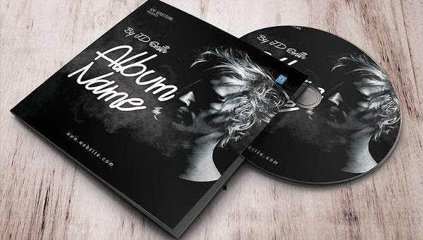 album cover design template
