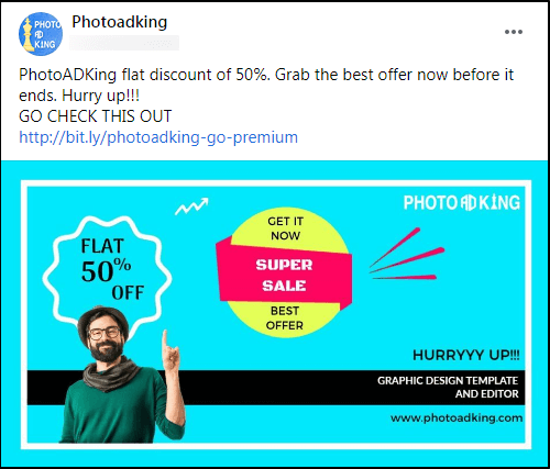 offer facebook post