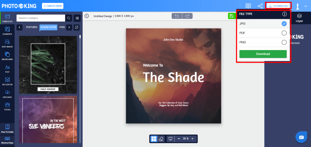 PhotoADKing download template