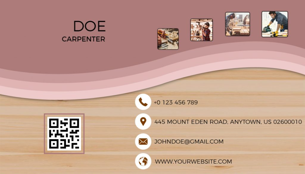 QR Code Business Card Templates