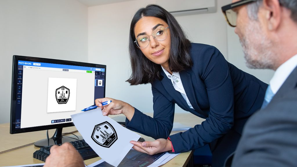 presenting logo design to clients