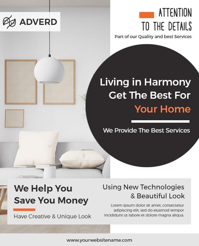 home décor flyer example
