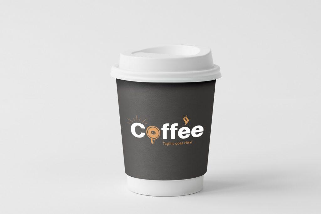 coffee logo mockup