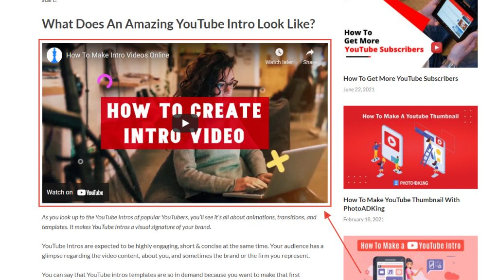 Video The Main Attraction On The Page